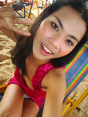 Girlfriend photos of Ladyboy June on beach and butt naked - Asian ladyboys porn at Thai LB Sex