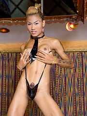 Noon shows her perfect tits and delicious cock and balls - Asian ladyboys porn at Thai LB Sex