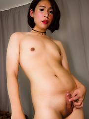 Sexy seductress Sammy - Asian ladyboys porn at Thai LB Sex