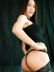 Pretty Patty Strokes Her Penis! - Asian ladyboys porn at Thai LB Sex