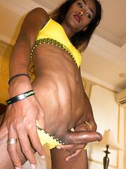 Dark Chocolate Six Pack Abs - Asian ladyboys porn at Thai LB Sex
