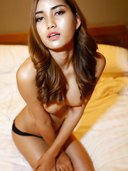 20yo pretty Thai ladyboy gets face full of cum from big white cock - Asian ladyboys porn at Thai LB Sex
