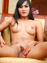 Brunette tranny loves her cock - Asian ladyboys porn at Thai LB Sex
