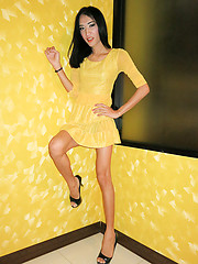 Yellow Dress Top Bareback - Asian ladyboys porn at Thai LB Sex