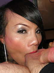 Brunette LB fucked by guy and gets creampied - Asian ladyboys porn at Thai LB Sex