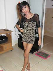 Skinny ladyboy with huge cock gets barebacked - Asian ladyboys porn at Thai LB Sex