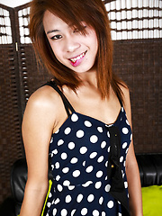 BB is 20 years old, petite, cute face, small hands, nice cock and a cute tiny ass. - Asian ladyboys porn at Thai LB Sex