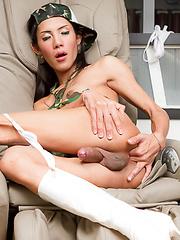 Big Black Military Cock - Asian ladyboys porn at Thai LB Sex