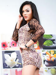 Snake Skin Dress Cum - Asian ladyboys porn at Thai LB Sex