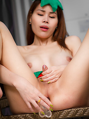Strawberry Stroking - Asian ladyboys porn at Thai LB Sex