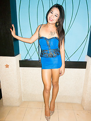 Blue Dress Top and Creampie