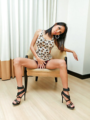 Experienced ladyboy hooker jerk in the nude - Asian ladyboys porn at Thai LB Sex