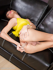 Nadia - Pastel Pantyhose - Asian ladyboys porn at Thai LB Sex