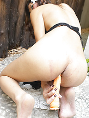 Yada in the Yard - Asian ladyboys porn at Thai LB Sex