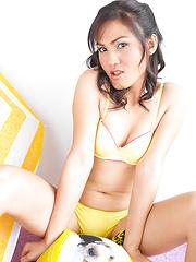 Bright Yellow Panties - Asian ladyboys porn at Thai LB Sex