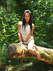 Romantic encounter with a naturist ladyboy in the tropical forest - Asian ladyboys porn at Thai LB Sex