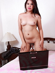 Chubby Filipina ladyboy chatting on-line with potential sex partners - Asian ladyboys porn at Thai LB Sex