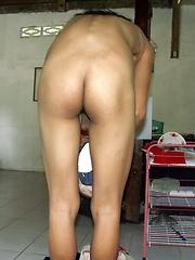 Needy naked Asian Ladyboy photographed in the slum where she lives - Asian ladyboys porn at Thai LB Sex