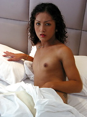 This Thai Katoey wanks her hard meat until a relieving explosion - Asian ladyboys porn at Thai LB Sex