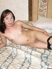 Sexy trannie spreading and flashing her friendly puckerhole - Asian ladyboys porn at Thai LB Sex