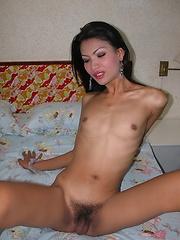 Tall Asian t-girl flashing close-ups of her tight backdoor - Asian ladyboys porn at Thai LB Sex