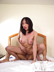 Two ladyboys playing with sex toys before fucking each other - Asian ladyboys porn at Thai LB Sex