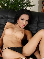 Naughty hottie Fay strips & jerks - Asian ladyboys porn at Thai LB Sex