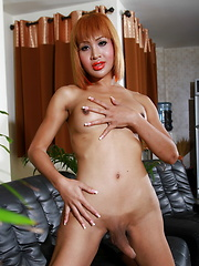 Exotic hottie Tanya fucks a carrot - Asian ladyboys porn at Thai LB Sex