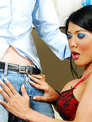 Big tit Asian shemale gets creampied - Asian ladyboys porn at Thai LB Sex