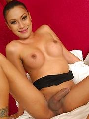 Gorgeous Thai Ladyboy Zonia Pounded - Asian ladyboys porn at Thai LB Sex
