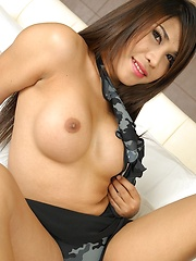 Big breasted ladyboy Ploy Enjoys the cock - Asian ladyboys porn at Thai LB Sex