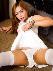 Jizzy Jass - Asian ladyboys porn at Thai LB Sex