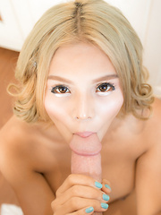 Blonde Teen PJ Bareback - Asian ladyboys porn at Thai LB Sex