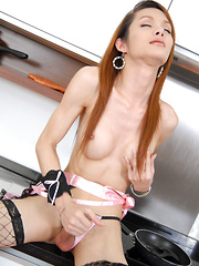 Long Legs Kitchen Fap - Asian ladyboys porn at Thai LB Sex