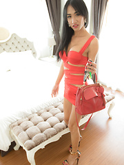 Slutty Red Dress Barebacking - Asian ladyboys porn at Thai LB Sex