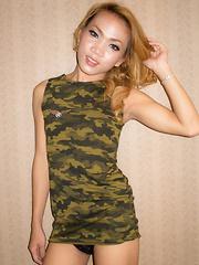 Military Dress Cum-Licking Creampie - Asian ladyboys porn at Thai LB Sex