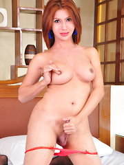 Pauline Diaz: Lady in Red - Asian ladyboys porn at Thai LB Sex