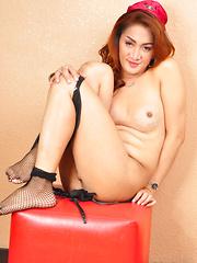 Pretty Francine: Sexy Sstewardess - Asian ladyboys porn at Thai LB Sex
