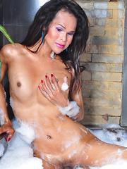 Alexia: Bubbly Bath - Asian ladyboys porn at Thai LB Sex