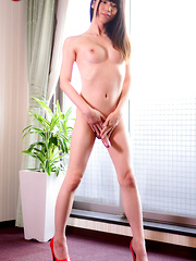 Japanese newhalf Rina homecoming - Asian ladyboys porn at Thai LB Sex