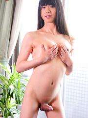 Japanese newhalf Rina homecoming - Asian ladyboys porn at Thai LB Sex