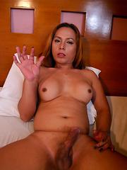 Francine: Black Rubber Dress 1 - Asian ladyboys porn at Thai LB Sex
