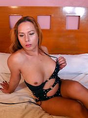 Francine: Black Rubber Dress 2 - Asian ladyboys porn at Thai LB Sex