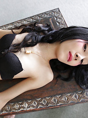 19 year old Thai ladyboy blowjob and facial from white cock - Asian ladyboys porn at Thai LB Sex