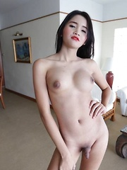 Small cock 18 year old Ladyboy gets ass packed by large dick - Asian ladyboys porn at Thai LB Sex