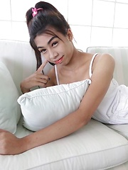 Sexy big-boobed Thai Ladyboy shows huge appetite for cock - Asian ladyboys porn at Thai LB Sex